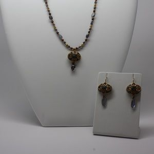 Jewelry - Enamel necklace/ earring set